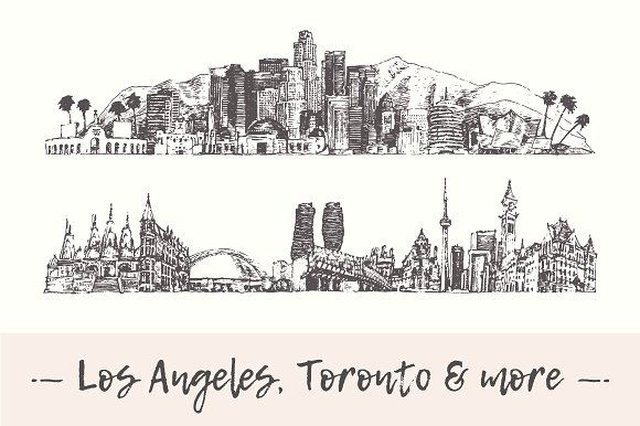 Background Los Angeles Skyline L A Liked On Polyvore Los Angeles Skyline Skyline Tattoo Los Angeles Cityscape
