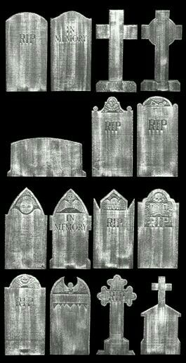 Tombstone shapes