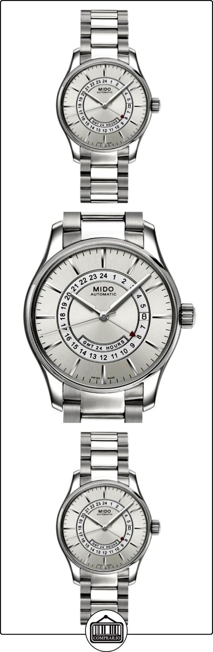MIDO Belluna M0014291103120 - Reloj de caballero automático, correa de acero inoxidable color blanco  ✿ Relojes para hombre - (Lujo) ✿