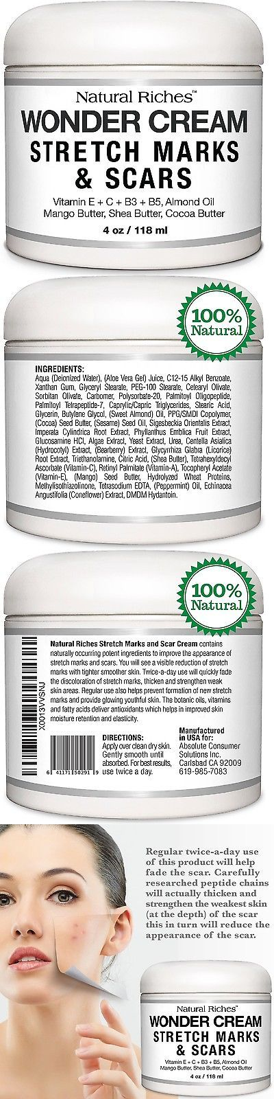 Scar and Stretch Mark Reducers: Stretch Marks And Scar Removal Cream From Natural Riches - 4 Oz - 100% Natural ... -> BUY IT NOW ONLY: $300 on eBay!