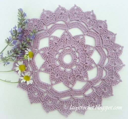 Small Crochet Doily Pattern | finished crocheting this small doily a couple days ago. The pattern ...