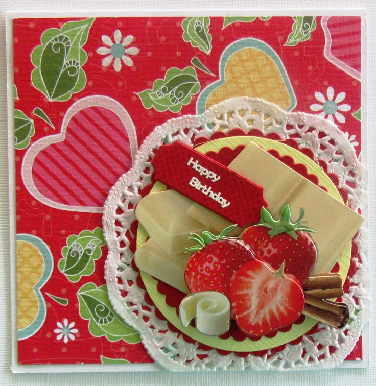 I added Spellbinders dies, paper doily, Heart Crafts 3D image and Craft Concepts Harry die with a greeting.