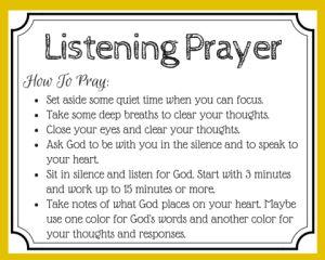 printable prayer card for listening prayer