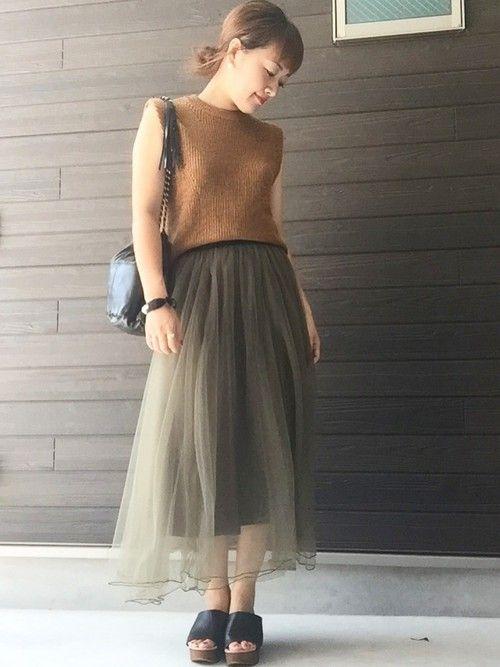【秋はレイヤードを楽しむ季節。ニットベストのカラー別着こなし方】Ciel[シエル]|ファッションメディア