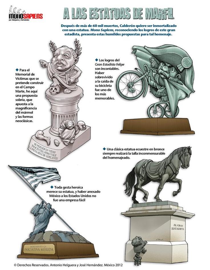 Posibles estatuas para nuestro ilustre presidente de la nación el Sr. #FECAL