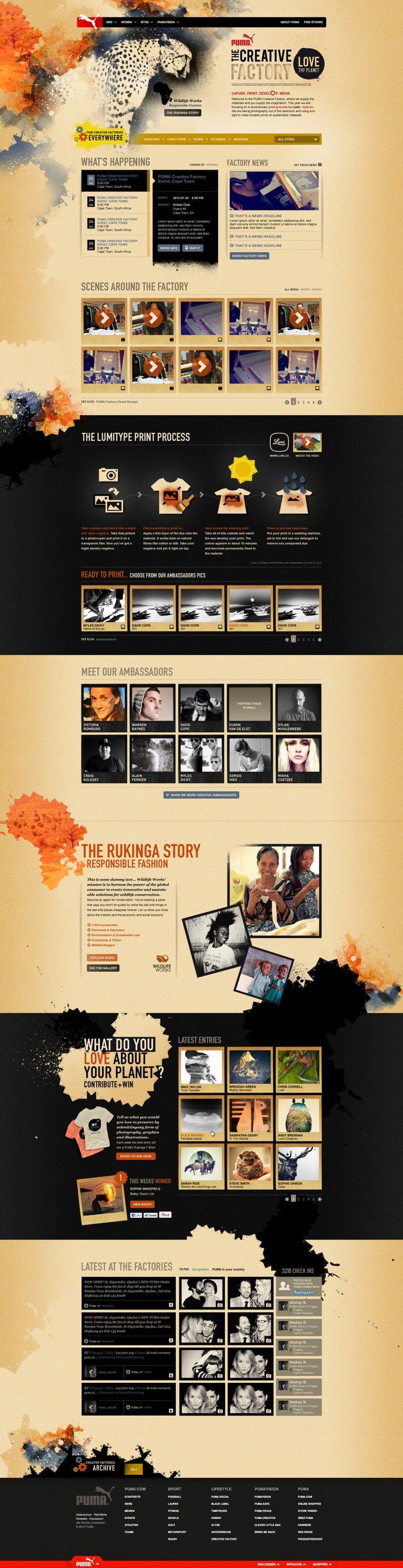 Cool Web Design on the Internet, Puma. #webdesign #webdevelopment #website @ http://www.pinterest.com/alfredchong/web-design/