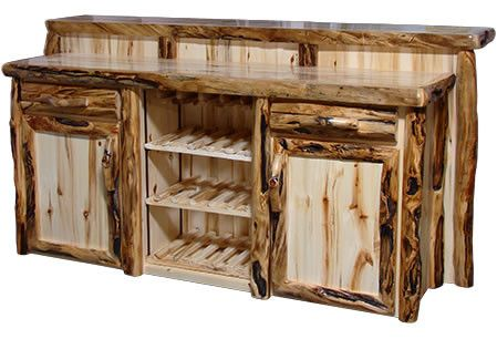 Deluxe Staggered Bar in Log Front (72″W)