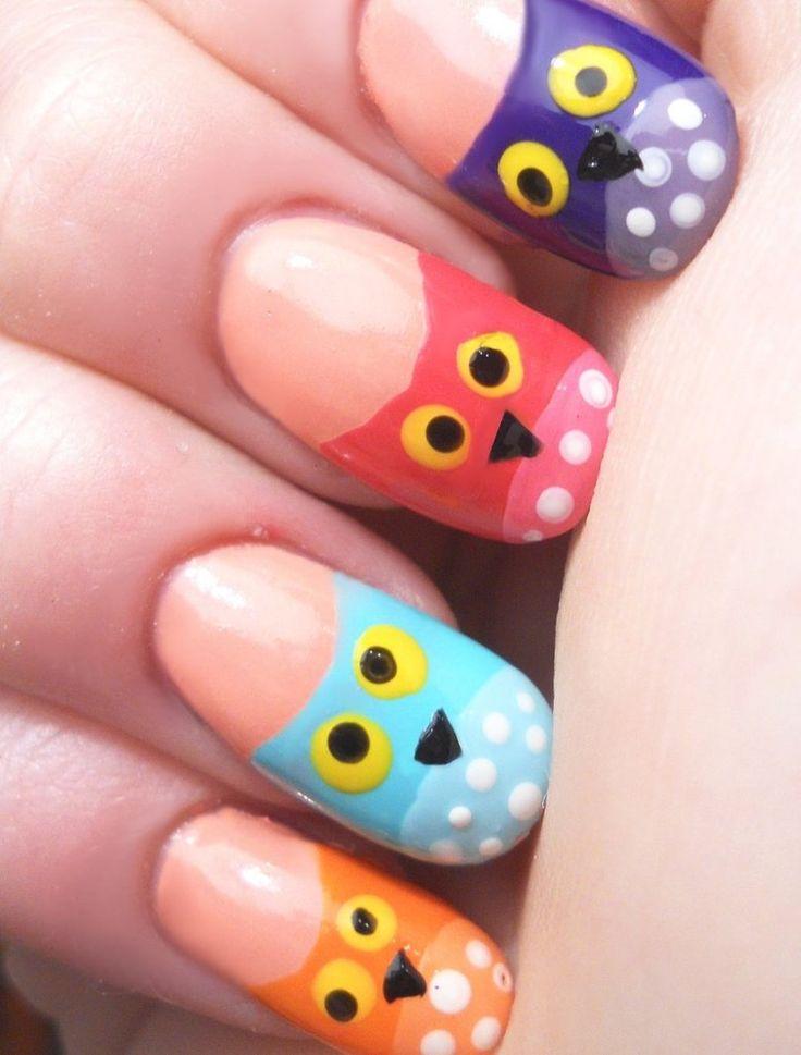 42 best owl nails u as decoradas con b hos images on - Decoracion de unas fotos ...