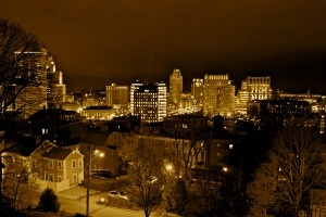 I took this picture of my home town last winter. One of the best cities in the US.  (I'm not biased at all).  Providence, RI - I love ya.
