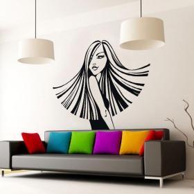 Vinilos decorativos paredes silueta mujer estilo for Vinilos pared barcelona