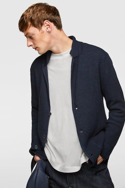 6035df0b9 TEXTURED WEAVE KNIT BLAZER - Item available in more colors | Men's ...