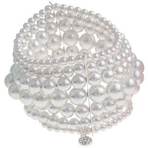 SNÖ Of Sweden - Alva Elastic Bracelet 7-String White S/M - 617-3557010