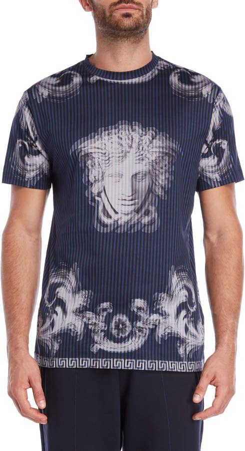 66734959 Versace Navy Stripe Statue #Tee 60%+ off ... #Versace #tshirt #fashion  #menswear #sale #coupon #shopstylecollective #shopstyle #shopmylook