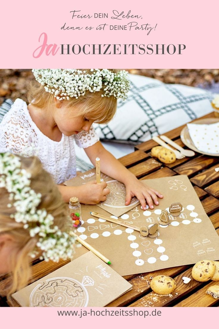 Kinder Spiele Set | Kinder auf der hochzeit, Hochzeit