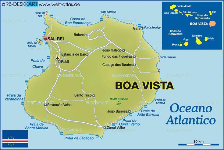 Map of Boa Vista (Cape Verde) #BoaVista #TeamCapeVerdean #TeamFunana