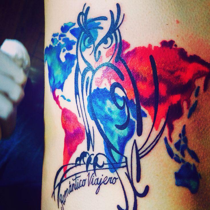 Tatoo world owl chile chilean tatoo tatuaje universidad de chile