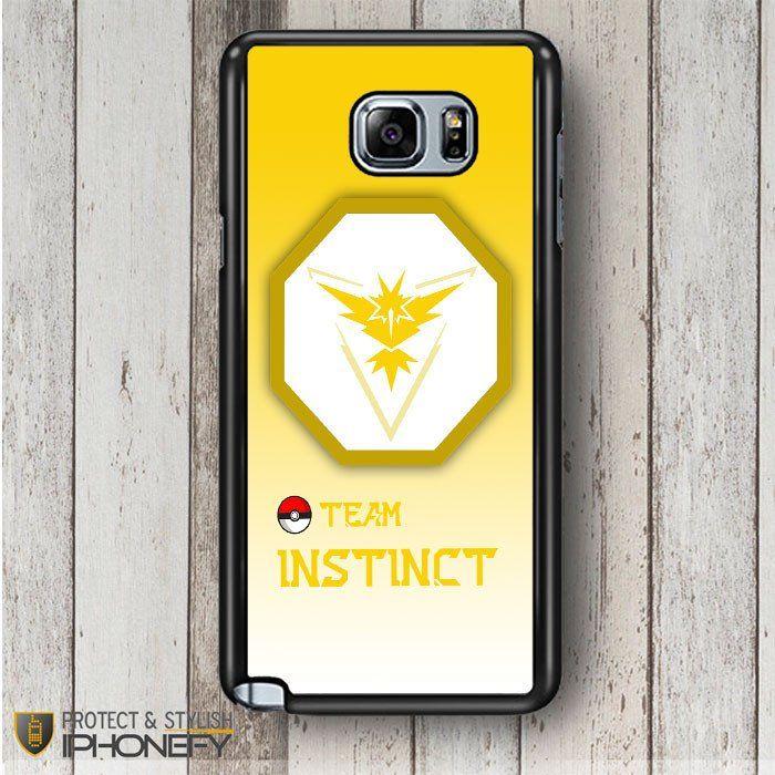 Team Instinct Pokemon Go Samsung Galaxy Note 4|5 Case|iPhonefy