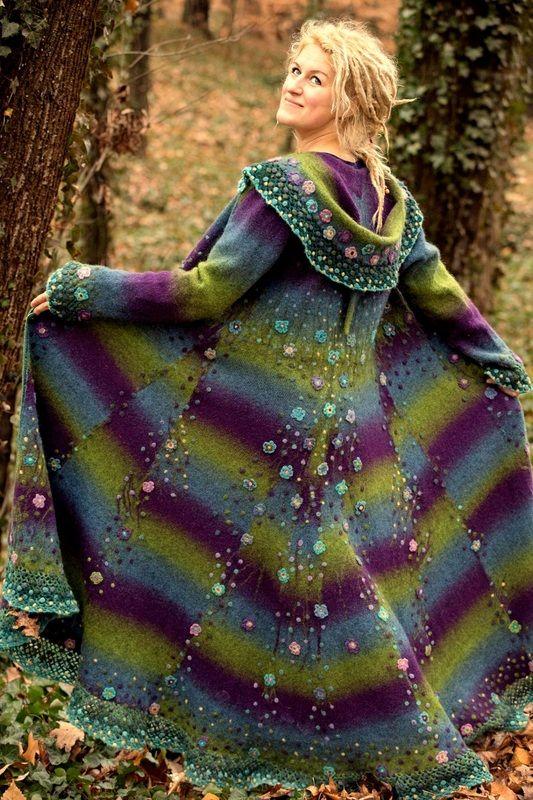 Janika Saar's floral coat. Love it.