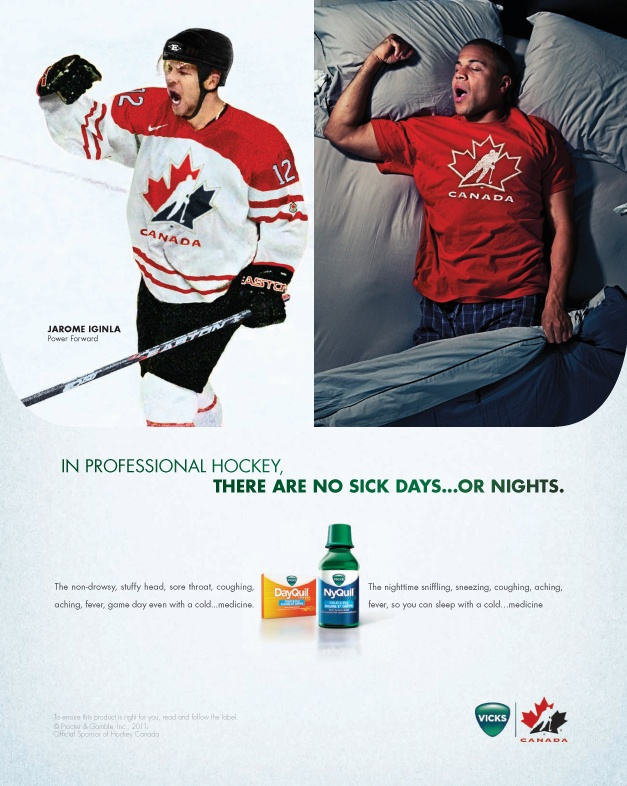 DayQuil has hockey commercials?! I have only seen football.