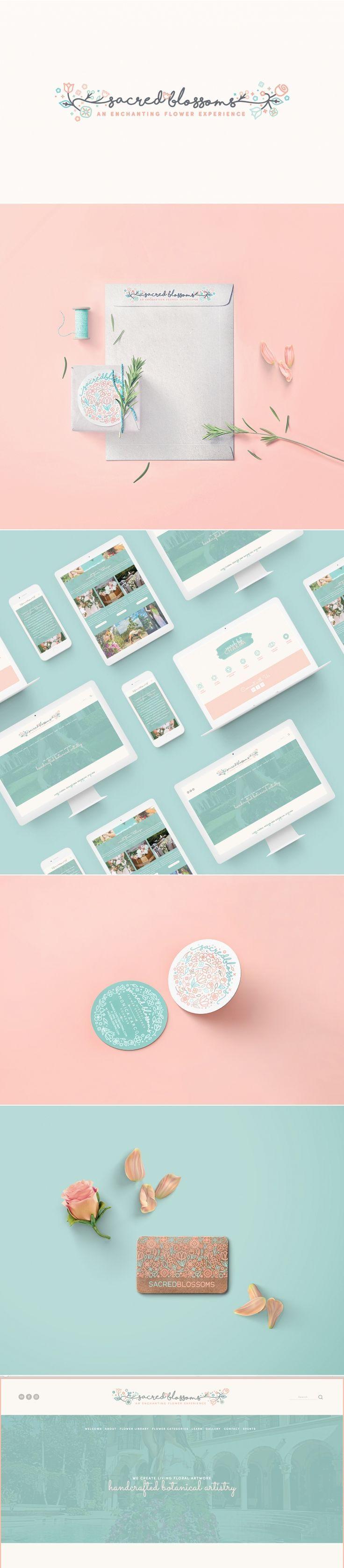 Sacred Blossoms Packaging + Website Design