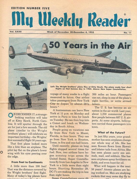 Image result for the weekly reader 1950s