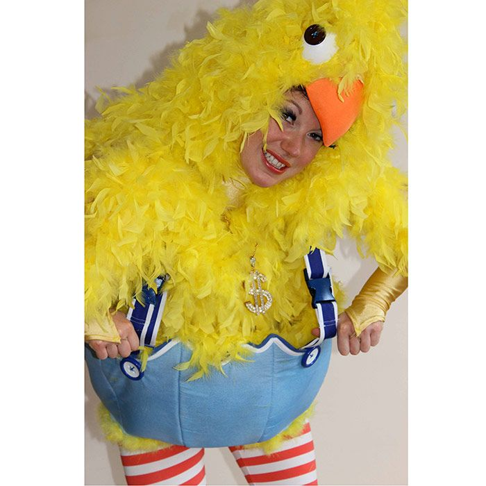 Rolling skating chickens perfect for family friendly Easter events.  Comical and and interactive act.
