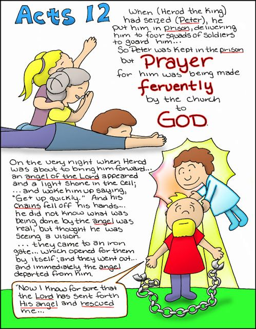 Doodle Through The Bible: Acts 12  Free coloring page and PNG elements…