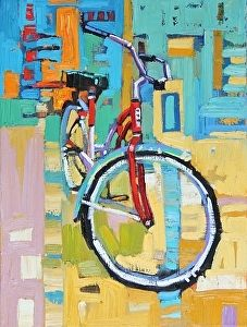"""Colorful Cruiser,"" by Rene Wiley by Rene' Wiley Gallery Oil ~ 16 x 12"