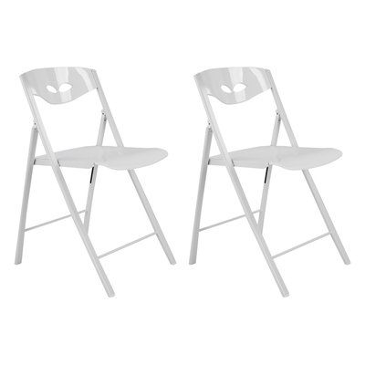 CORNER HOUSEWARES Contemporary Designed Comfortable Metal Folding Chair