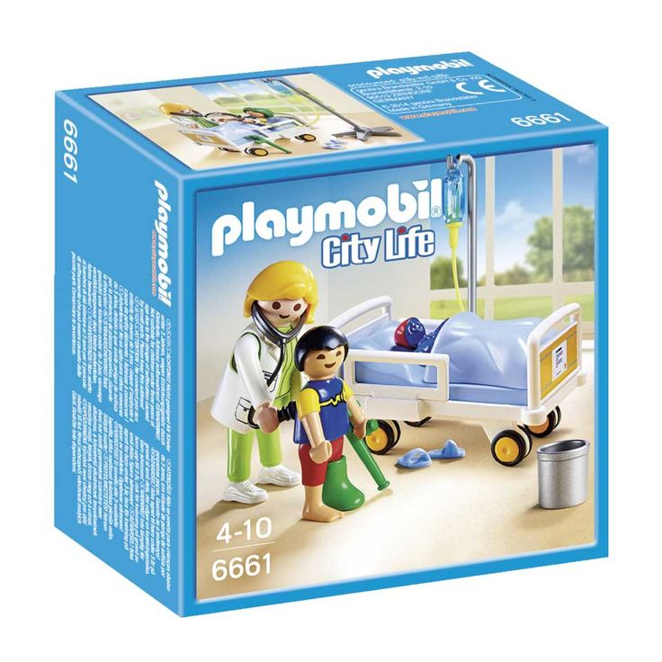6661 PLAYMOBIL City Life Ziekenhuiskamer met arts | Intertoys