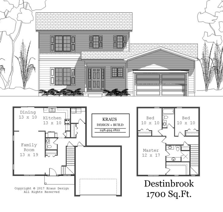 1700 Sq. Ft. Ready for your Oakland County Land. Call Today.