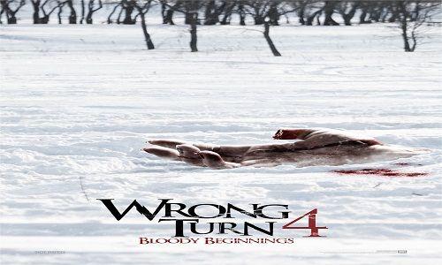 """Wrong Turn 4 : Bloody Beginnings   Mengikuti sekelompok teman-teman yang memutuskan untuk pergi snowmobiling selama liburan musim dingin mereka. Mereka membuat """"salah belok"""", tersesat dalam badai, ..."""