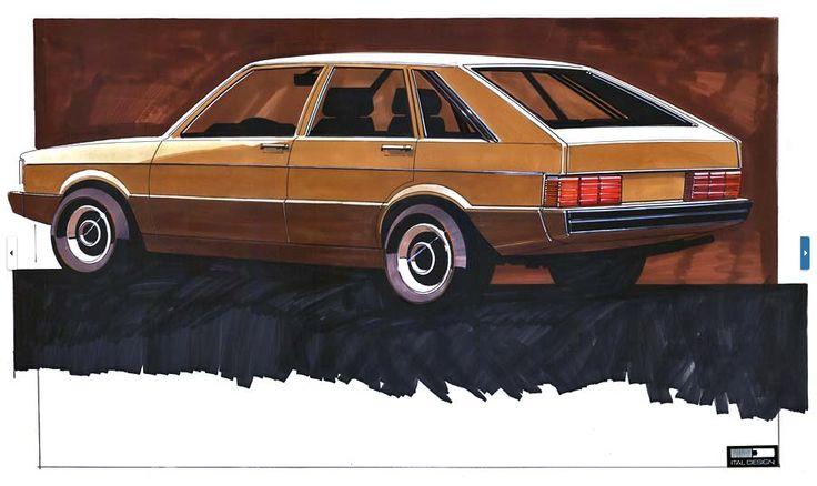 OG | 1973 Volkswagen / VW Passat B1 - EA 400 | Design sketch by Giugiaro