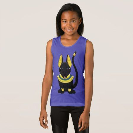 Egyptian Anubis Anpu, Girls Fine Jersey Tank Top - tap, personalize, buy right now!