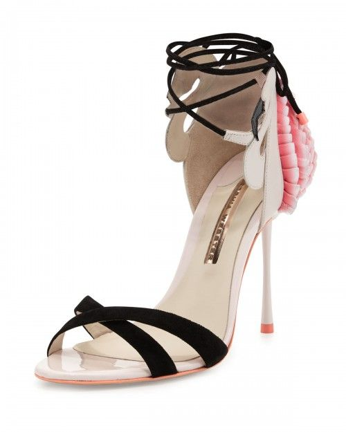 Sophia+Webster+Flamingo+Frill+Ankle+Wrap+Sandals+Heavenly+Pink+36+5b+6+5b+|+Shoes+and+Footwear