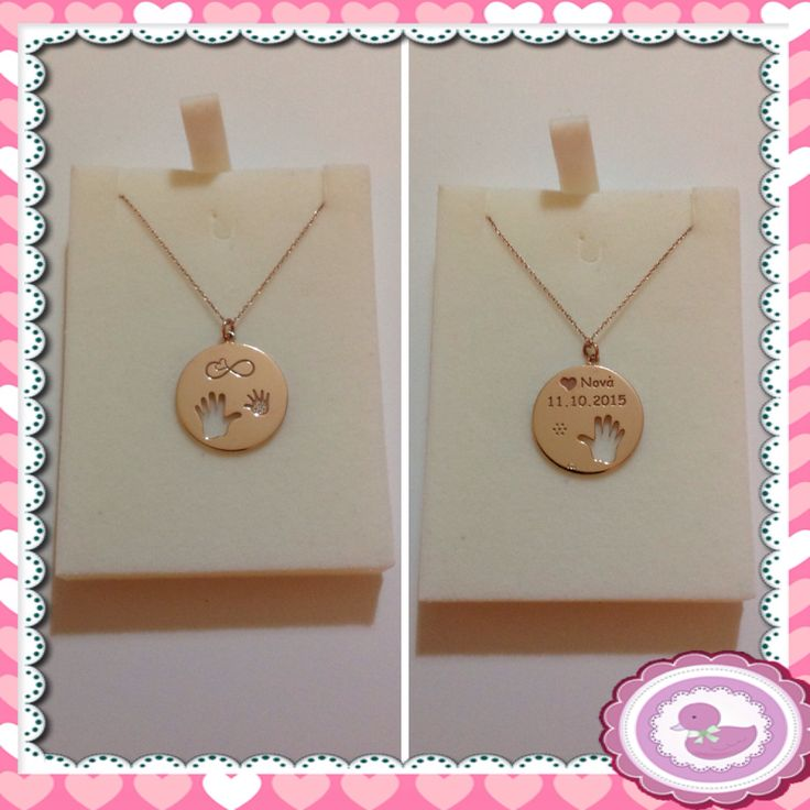 Baby girl and godmother necklace