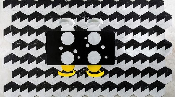 #marble reloaded: @barbierimanuel shapes optical irreverence for #scandolamarmi #cersaie2014. http://www.archipanic.com/marble-reloaded/