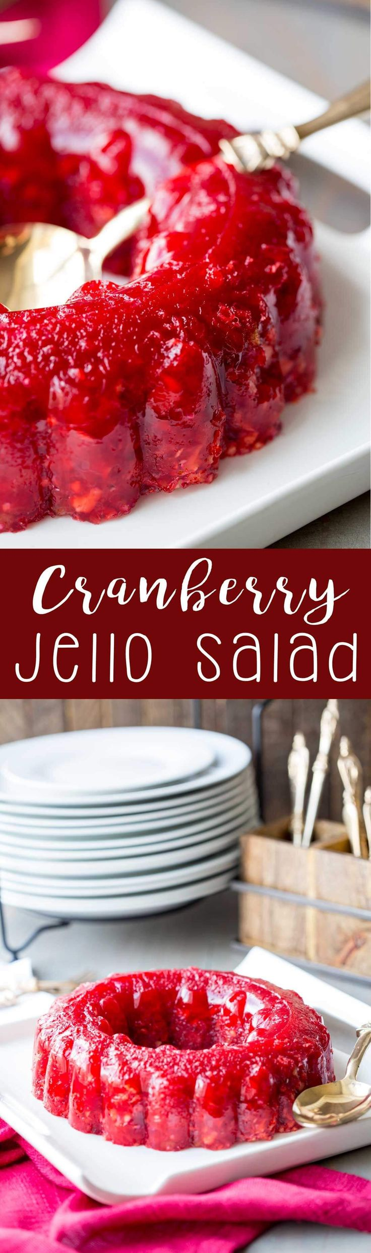 Cranberry Jello Salad - a blast from my past recipe. Can't wait to try it this Thanksgiving!