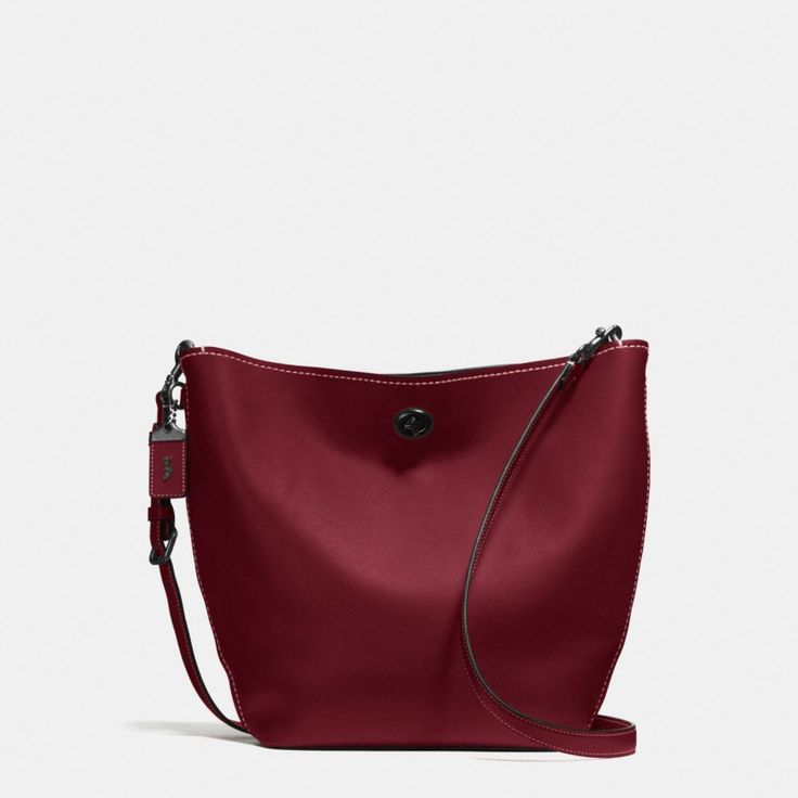 COACH Duffle Shoulder Bag in Glovetanned Leather. #coach #bags #shoulder bags #leather #lining #