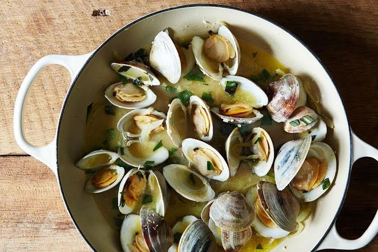 Clams (or mussels) with Lime Butter Sauce recipe: An adult dinner for kids too. #food52