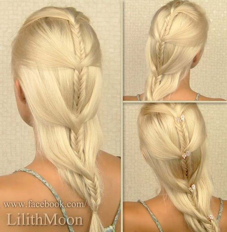 Cascading french fishtail braid