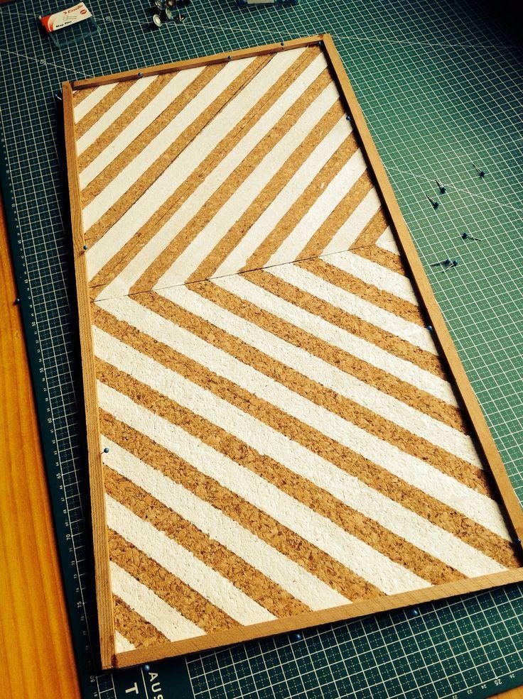 Cork tiles - Pin board at the Attic Studio with Aberline Belle Design