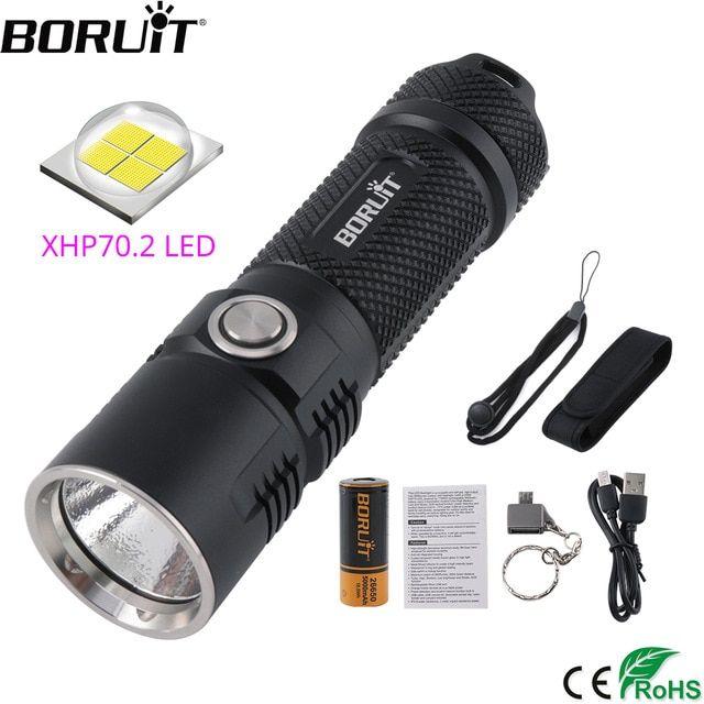 Powerfull XHP70 LED Tactical Flashlight Lamp USB Military Grade Torch Battery