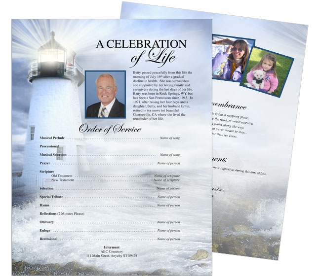 10 best Funeral Memorial Stationary Flyer Sheets Templates images ...