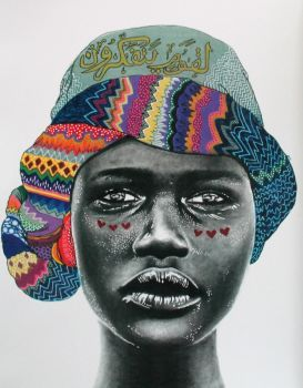 African Woman  Artist: Mashrique, Angela Artwork title: For People Who Think