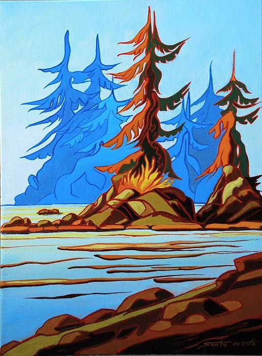 Westcoast Morning Painting - Westcoast Morning Fine Art Print