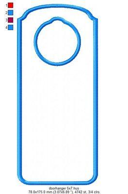 """ITH Doorhanger - fits 5x7"""" hoop"""