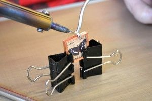 Soldering with a soldering iron. Rings and Things