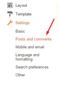 Blogger Comment and Post setting for improving SEO
