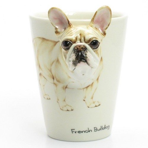 Cream French Bulldog Mug Original Handmade Mug Dog Lover Gift 00001